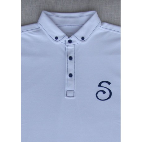 S-Chino Male Polo - White