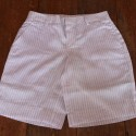 Sri panwa Male Linen Shorts - White / Blue-Pink Line