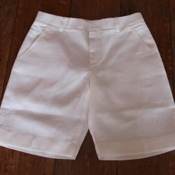 Sri panwa Male Linen Shorts - White