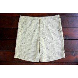 Sri panwa Male Linen Shorts - Pin Dot