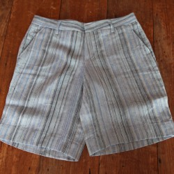 Sri panwa Male Linen Shorts - Multi Blue