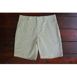 Sri panwa Male Cotton Shorts - Brown / Yellow Line