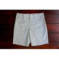 Sri panwa Male Cotton Shorts - Navy / White Line