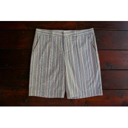 Sri panwa Male Cotton Shorts - Pink / White / Brown Line