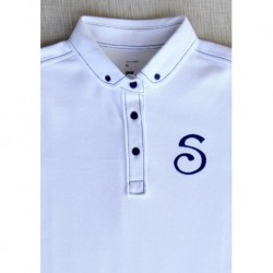 S Chino Female Polo - White