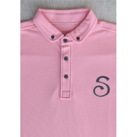 S-Chino Male Polo - Pink